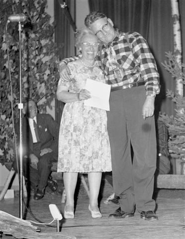Helen Creighton and Wilmot MacDonald, Miramichi Folk Song Festival, 1961